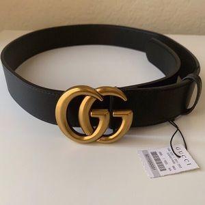 ÎNew Gucci GG Belt Åùthentíć Double G Marmot